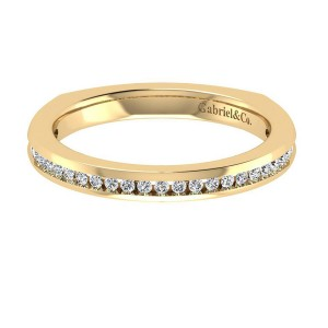 Gabriel 14 Karat Contemporary Wedding Band WB6655Y44JJ
