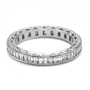 Tacori HT2532SMB Platinum Wedding Band