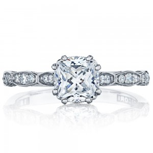 57-2CU6 Platinum Tacori Sculpted Crescent Engagement Ring
