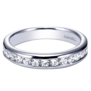 Gabriel 14 Karat Contemporary Wedding Band WB3986W44JJ