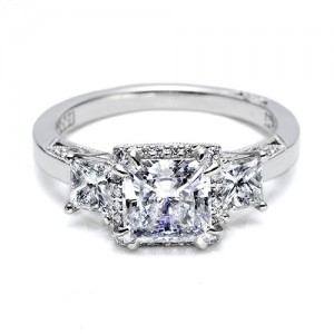 Tacori Platinum Dantela Engagement Ring 2622PRSM