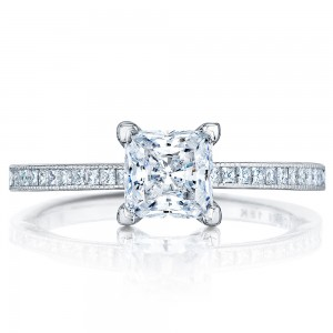 45-15PR55 Platinum Tacori Sculpted Crescent Engagement Ring