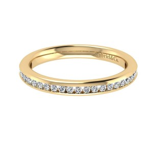 Gabriel 14 Karat Contemporary Wedding Band WB7476Y44JJ