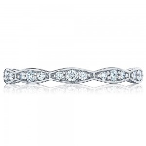 Tacori 46-2ET 18 Karat Sculpted Crescent Diamond Wedding Band