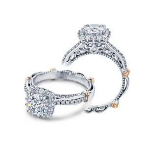 Verragio Parisian-119CU Platinum Engagement Ring