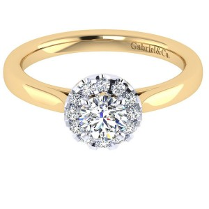 Gabriel 14 Karat Contemporary Engagement Ring ER7497Y44JJ