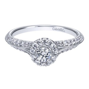 Gabriel 14 Karat Contemporary Engagement Ring ER910936W44JJ