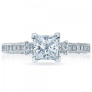 HT2430SM12X Platinum Tacori Classic Crescent Engagement Ring