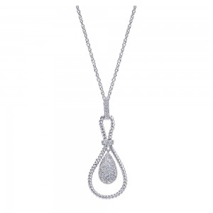 Gabriel Fashion 14 Karat Hampton Diamond Necklace NK2061W45JJ