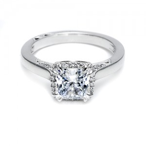 Tacori Platinum Dantela Engagement Ring 2620PRLG