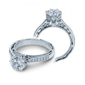 Verragio Venetian-5052DR Platinum Engagement Ring