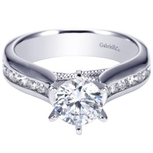 Gabriel 14 Karat Contemporary Engagement Ring ER4185W44JJ