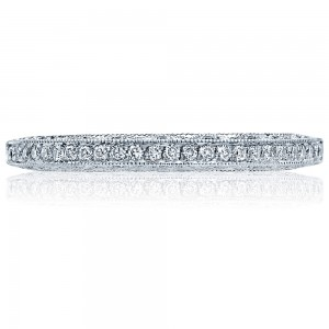 2616B12X Platinum Tacori Classic Crescent Diamond Wedding Ring