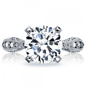 HT2602RD95 Platinum Tacori RoyalT Engagement Ring