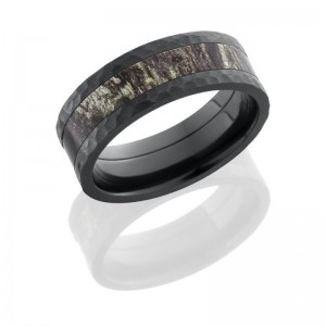 Lashbrook ZCAMO8F14/MOSSYOAK HAMMER Camo Wedding Ring or Band