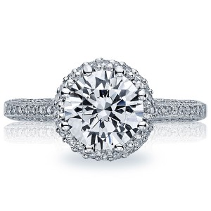2502RDP75 Platinum Simply Tacori Engagement Ring