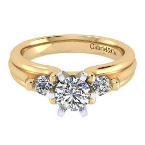 Gabriel 14 Karat Contemporary Engagement Ring ER3751M44JJ