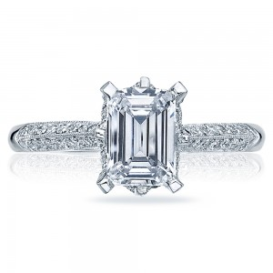 Tacori Platinum Solitaire Engagement Ring 2504EMP9X7