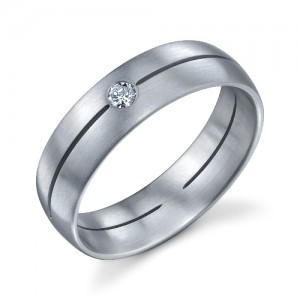 241004 Christian Bauer Platinum Diamond  Wedding Ring / Band