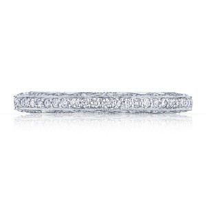 2616B34X Platinum Tacori Classic Crescent Diamond Wedding Ring