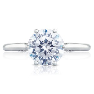 2650RD8 Platinum Simply Tacori Engagement Ring