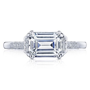 2655EC8X6 Platinum Simply Tacori Engagement Ring