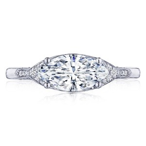 2655MQ11X55 Platinum Simply Tacori Engagement Ring