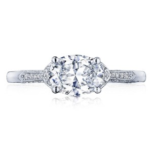 2655OV8X6 Platinum Simply Tacori Engagement Ring