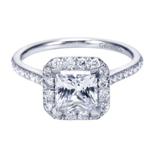 Gabriel 14 Karat Contemporary Engagement Ring ER7266W44JJ