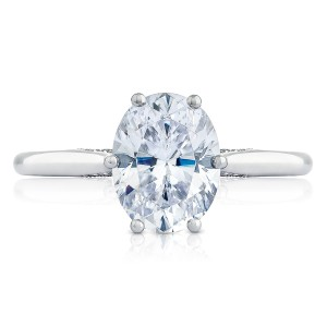 Tacori 2650OV9X7 18 Karat Simply Tacori Engagement Ring