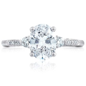 Tacori 2657OV85X65 18 Karat Simply Tacori Engagement Ring