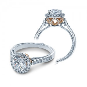 Verragio Couture-0433R-TT Platinum Engagement Ring