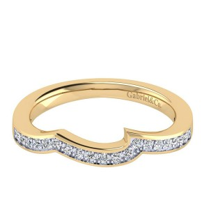 Gabriel 14 Karat Contemporary Wedding Band WB6360Y44JJ