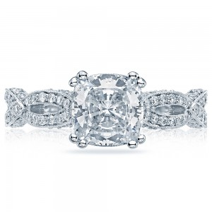 HT2528CU7 Platinum Tacori Ribbon Engagement Ring