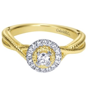 Gabriel 14 Karat Contemporary Engagement Ring ER98441Y44JJ
