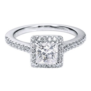Gabriel 14 Karat Contemporary Engagement Ring ER5825W44JJ