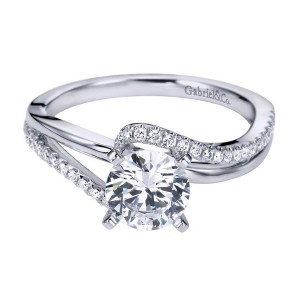 Gabriel 14 Karat Contemporary Engagement Ring ER6974W44JJ