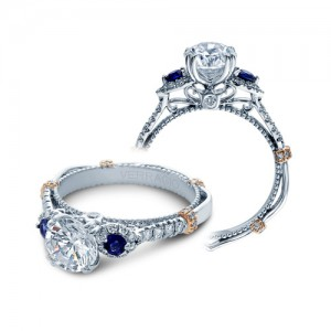 Verragio Parisian-CL-DL128 Platinum Engagement Ring