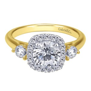 Gabriel 14 Karat Contemporary Engagement Ring ER7510M44JJ