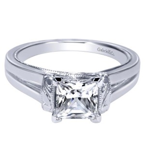 Gabriel 14 Karat Contemporary Engagement Ring ER9208W4JJJ