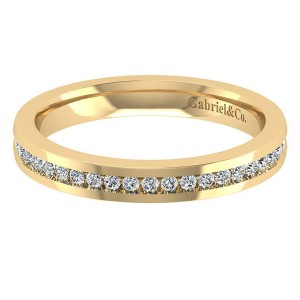 Gabriel 14 Karat Contemporary Wedding Band WB8132Y44JJ