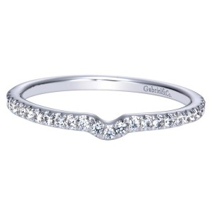 Gabriel 14 Karat Contemporary Wedding Band WB8529W44JJ
