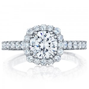 Tacori 37-2CU65 18 Karat Full Bloom Engagement Ring