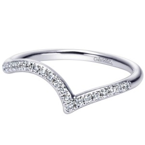 Gabriel 14 Karat Contemporary Wedding Band WB5360W44JJ