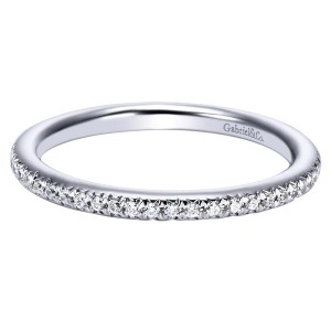 Gabriel 14 Karat Contemporary Wedding Band WB4181W44JJ