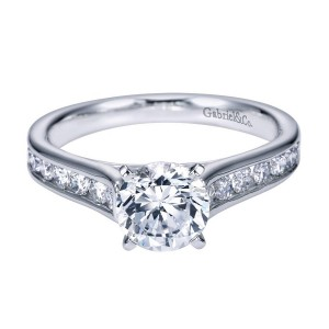 Gabriel 14 Karat Contemporary Engagement Ring ER7438W44JJ
