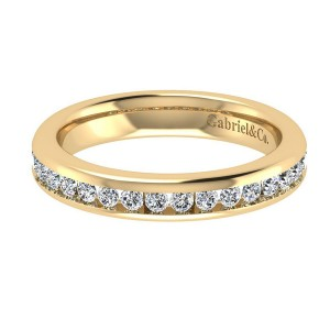 Gabriel 14 Karat Contemporary Wedding Band WB4185Y44JJ