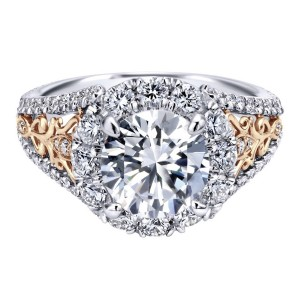 Gabriel 18 Karat Contemporary Engagement Ring ER11980R6T83JJ