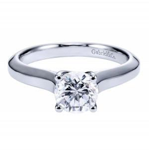 Gabriel Platinum Contemporary Engagement Ring ER6611PTJJJ