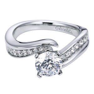 Gabriel 14 Karat Contemporary Engagement Ring ER6069W44JJ